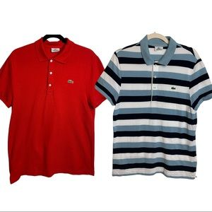 Lacoste Slim Fit Polo's Size 5 Lot Of 2